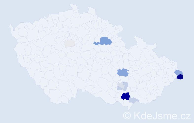 Příjmení: 'Jasinková', počet výskytů 25 v celé ČR