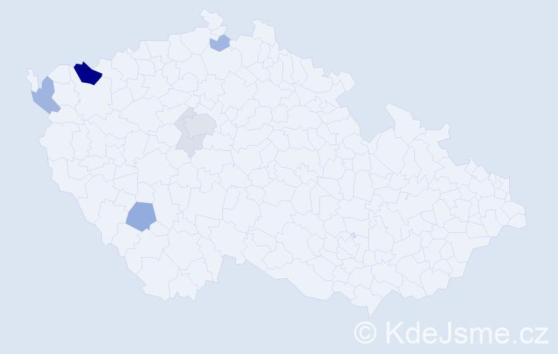 Příjmení: 'Eisenkolb', počet výskytů 19 v celé ČR