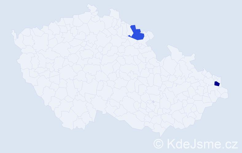 Příjmení: 'Bertoniová', počet výskytů 3 v celé ČR