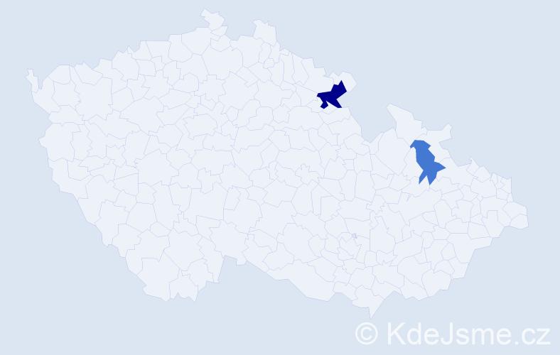 Příjmení: 'Ivacha', počet výskytů 4 v celé ČR