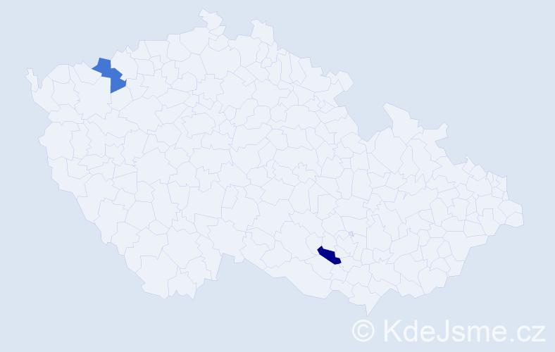 Příjmení: 'Jóźwiak', počet výskytů 4 v celé ČR