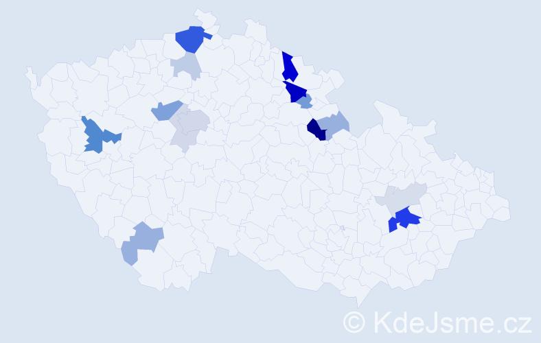 Příjmení: 'Flegel', počet výskytů 48 v celé ČR