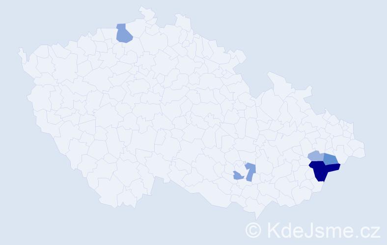 Příjmení: 'Abdulová', počet výskytů 17 v celé ČR