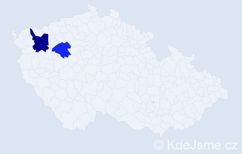 Příjmení: 'Karnollová', počet výskytů 15 v celé ČR