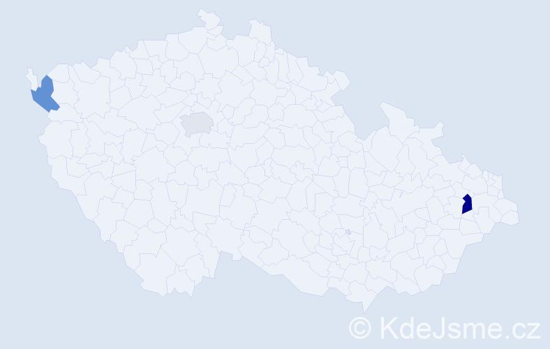 Příjmení: 'Gerik', počet výskytů 4 v celé ČR