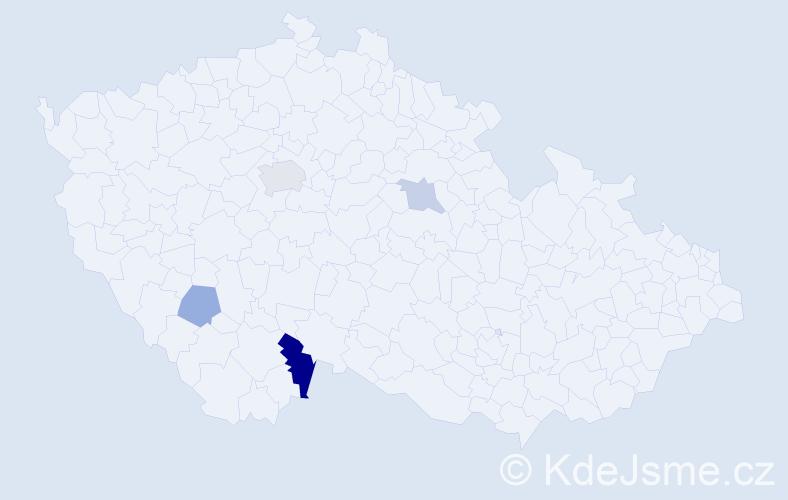 Příjmení: 'Habersberger', počet výskytů 7 v celé ČR