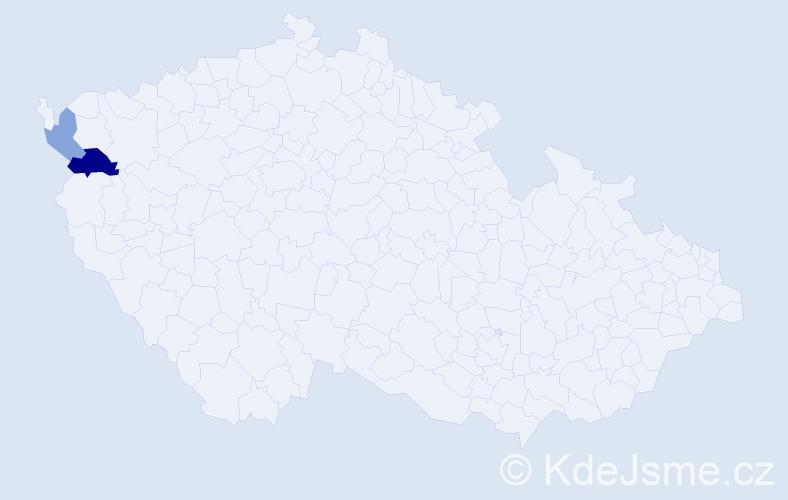 Příjmení: 'Kirnagová', počet výskytů 3 v celé ČR