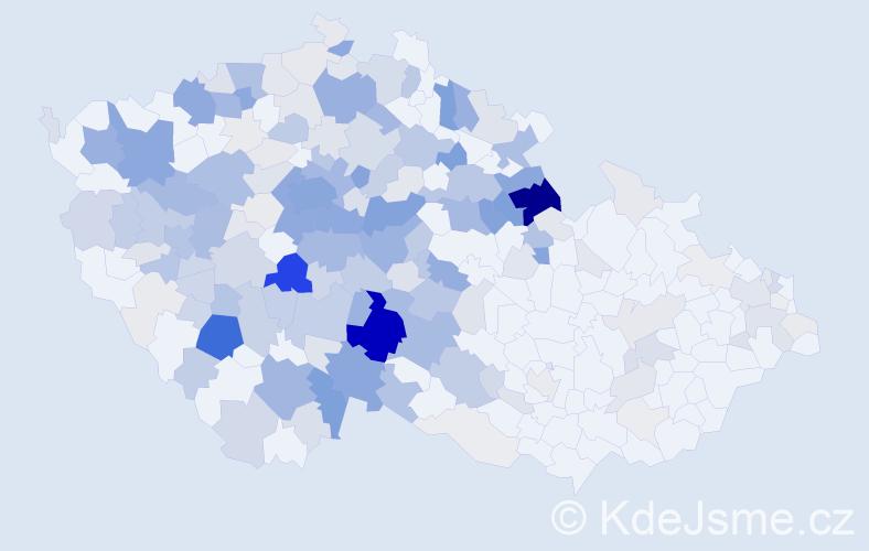 Příjmení: 'Jirsová', počet výskytů 884 v celé ČR