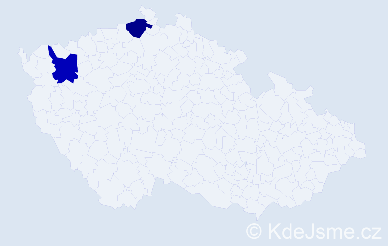 Příjmení: 'Géňa', počet výskytů 2 v celé ČR