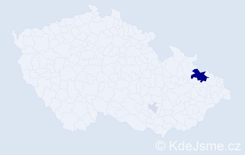 Příjmení: 'Bierhausová', počet výskytů 8 v celé ČR
