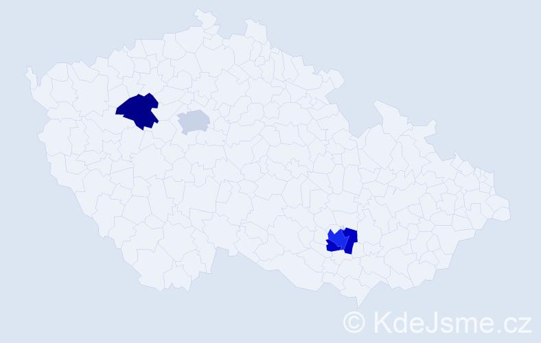 Příjmení: 'Herfortová', počet výskytů 6 v celé ČR