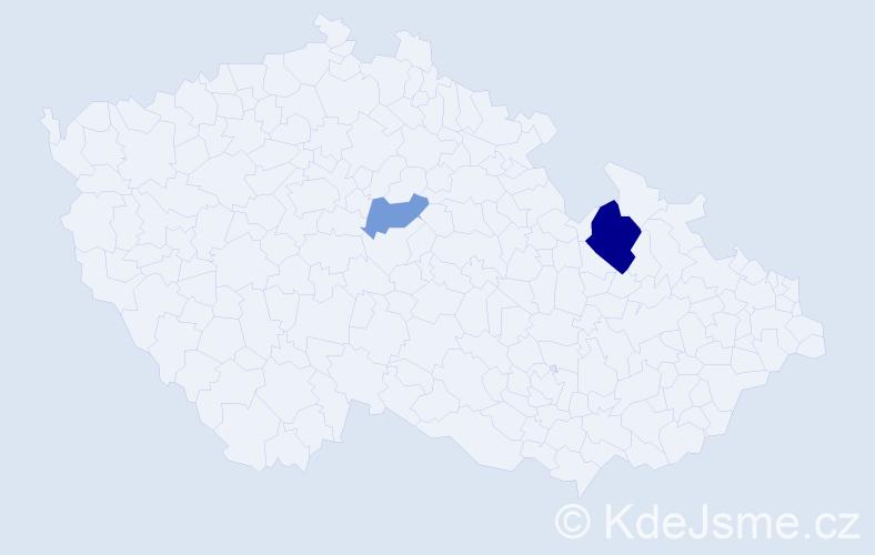 Příjmení: 'Fietz', počet výskytů 4 v celé ČR