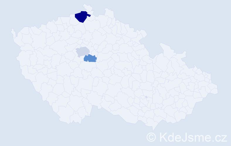 Příjmení: 'Éder', počet výskytů 6 v celé ČR