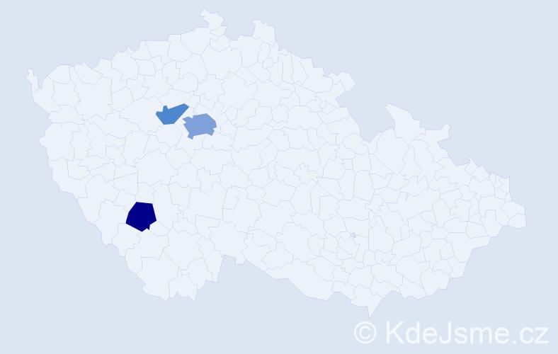 Příjmení: 'Glässnerová', počet výskytů 6 v celé ČR