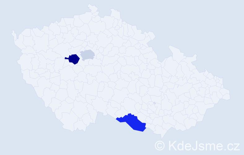 Příjmení: 'Badinský', počet výskytů 6 v celé ČR