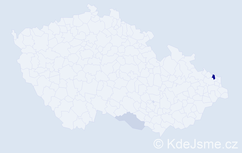 Příjmení: 'Javorík', počet výskytů 6 v celé ČR