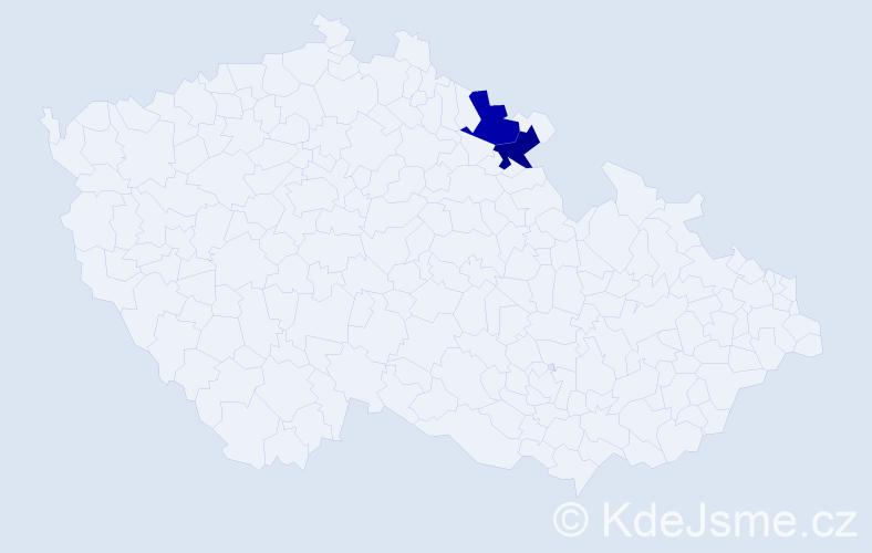 Příjmení: 'Bydelský', počet výskytů 2 v celé ČR