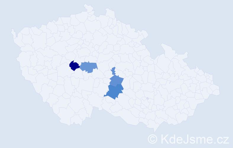 Příjmení: 'Kerepecký', počet výskytů 5 v celé ČR