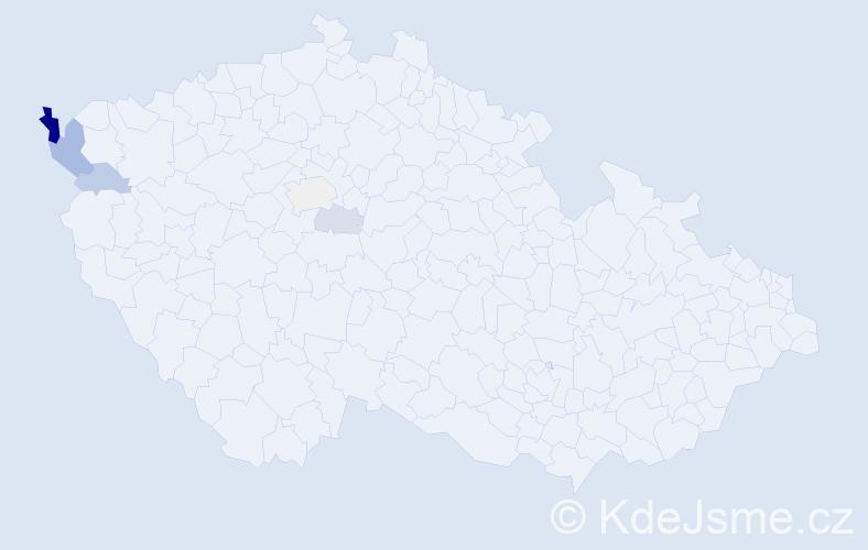 Příjmení: 'Elizeusová', počet výskytů 13 v celé ČR