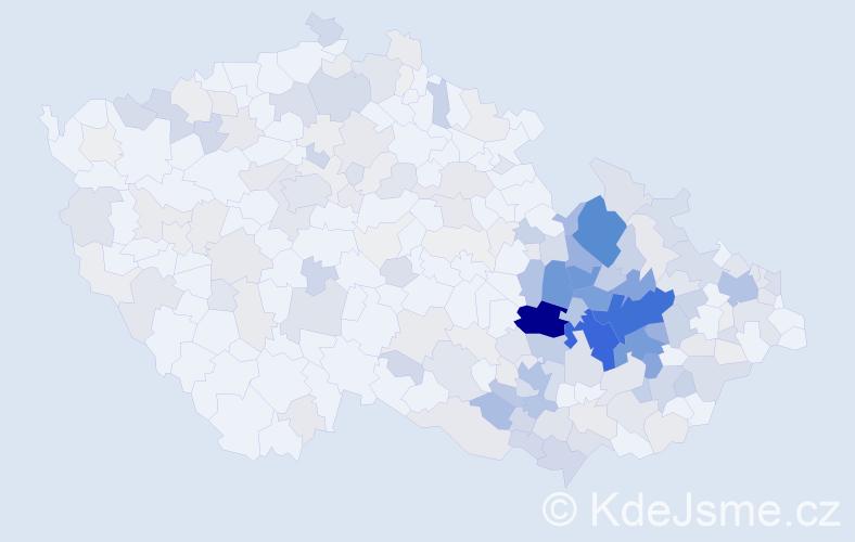 Příjmení: 'Dokoupil', počet výskytů 1087 v celé ČR