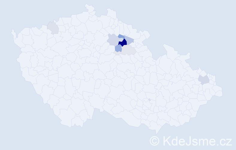 Příjmení: 'Ersepková', počet výskytů 16 v celé ČR