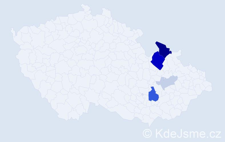 Příjmení: 'Ignačáková', počet výskytů 14 v celé ČR
