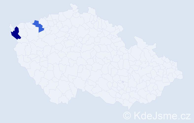 Příjmení: 'Irberová', počet výskytů 3 v celé ČR