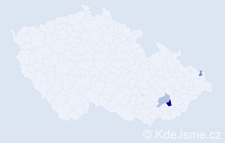 Příjmení: 'Ferovič', počet výskytů 7 v celé ČR