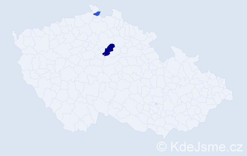 Příjmení: 'Ifčičová', počet výskytů 4 v celé ČR