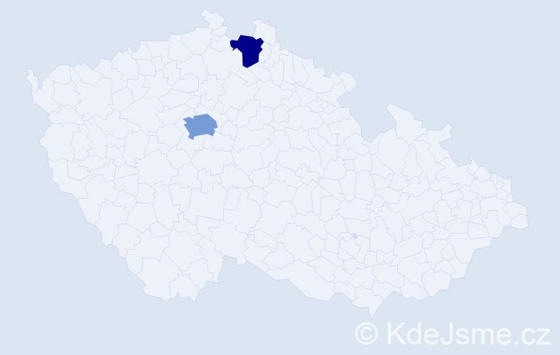 Příjmení: 'Elbertová', počet výskytů 3 v celé ČR