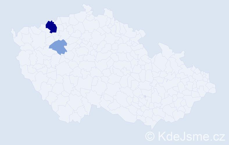 Příjmení: 'Adámová', počet výskytů 6 v celé ČR