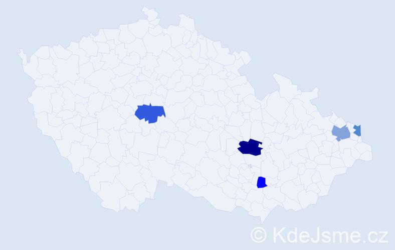 Příjmení: 'Buňatická', počet výskytů 11 v celé ČR