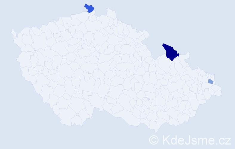 Příjmení: 'Janovjak', počet výskytů 4 v celé ČR