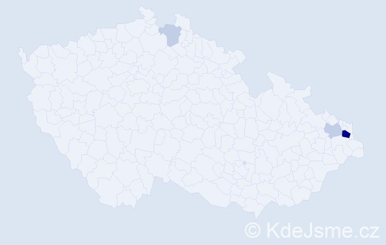 Příjmení: 'Ciepiela', počet výskytů 11 v celé ČR