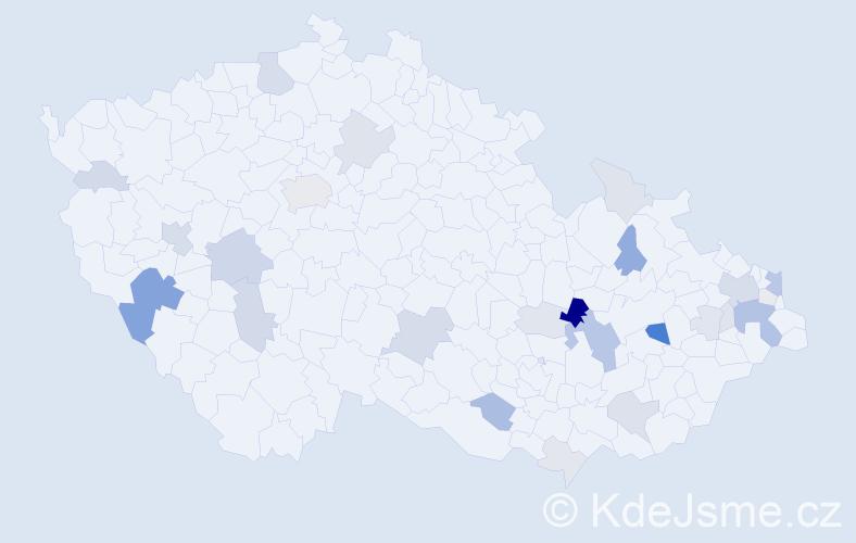 Příjmení: 'Bonk', počet výskytů 83 v celé ČR
