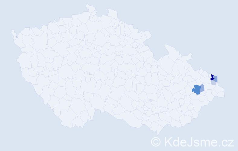 Příjmení: 'Habdasová', počet výskytů 13 v celé ČR