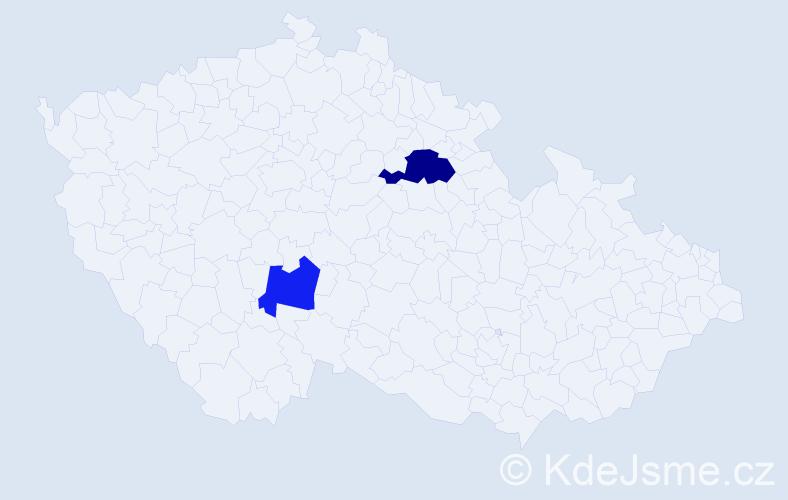 Příjmení: 'Gadžinovská', počet výskytů 3 v celé ČR