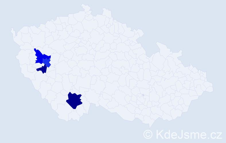 Příjmení: 'Laierová', počet výskytů 12 v celé ČR