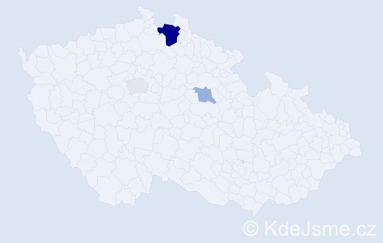 Příjmení: 'Grzinčič', počet výskytů 8 v celé ČR