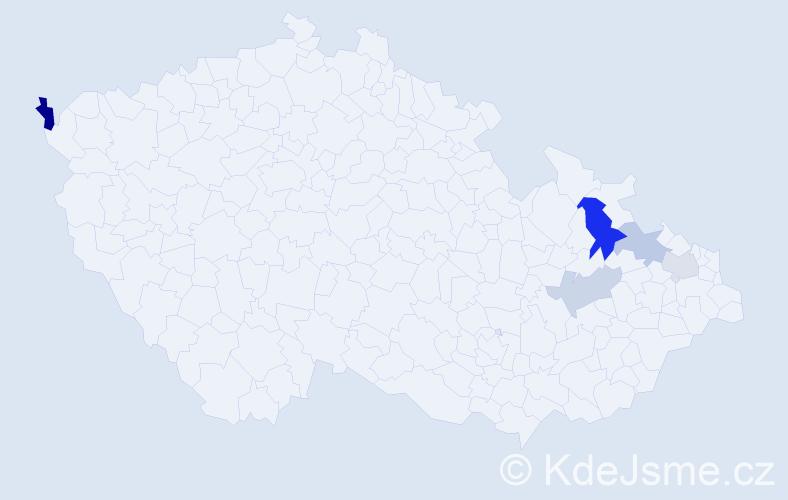 Příjmení: 'Ganzová', počet výskytů 8 v celé ČR