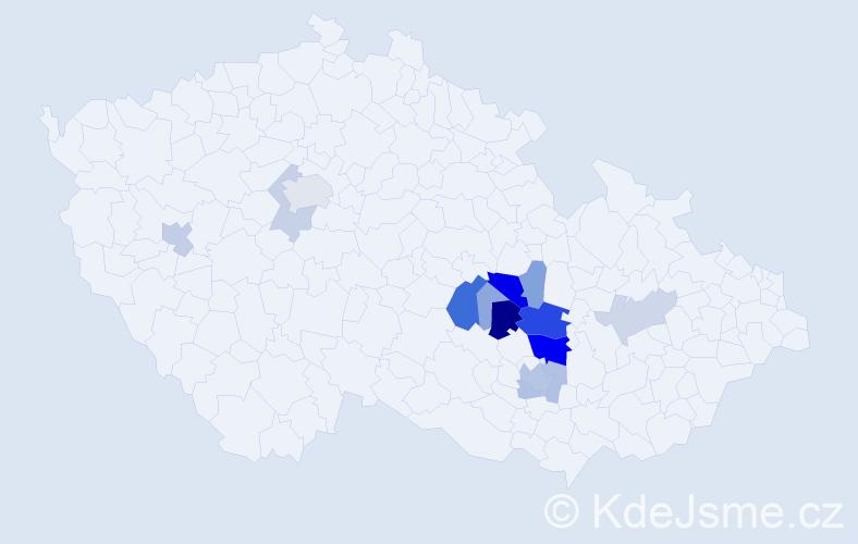 Příjmení: 'Čípková', počet výskytů 58 v celé ČR