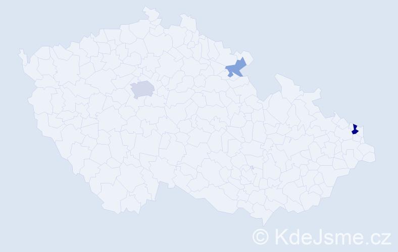 Příjmení: 'Čerge', počet výskytů 7 v celé ČR