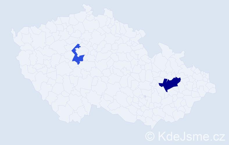 Příjmení: 'Galčenková', počet výskytů 3 v celé ČR