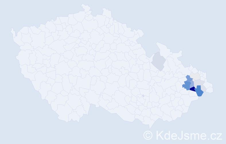 Příjmení: 'Grozmanová', počet výskytů 20 v celé ČR