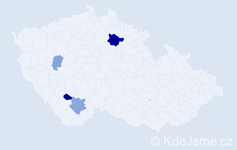 Příjmení: 'Barchini', počet výskytů 8 v celé ČR