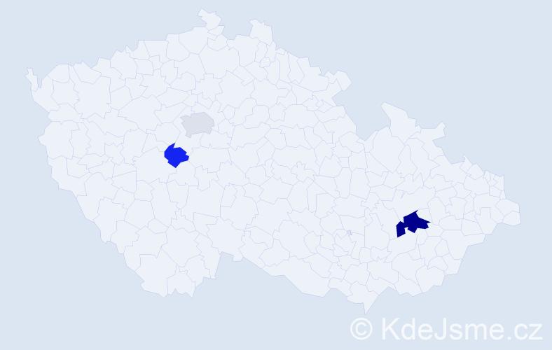 Příjmení: 'Fistungová', počet výskytů 8 v celé ČR