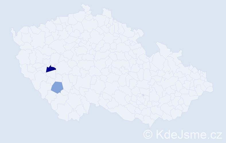 Příjmení: 'Benhäuter', počet výskytů 2 v celé ČR