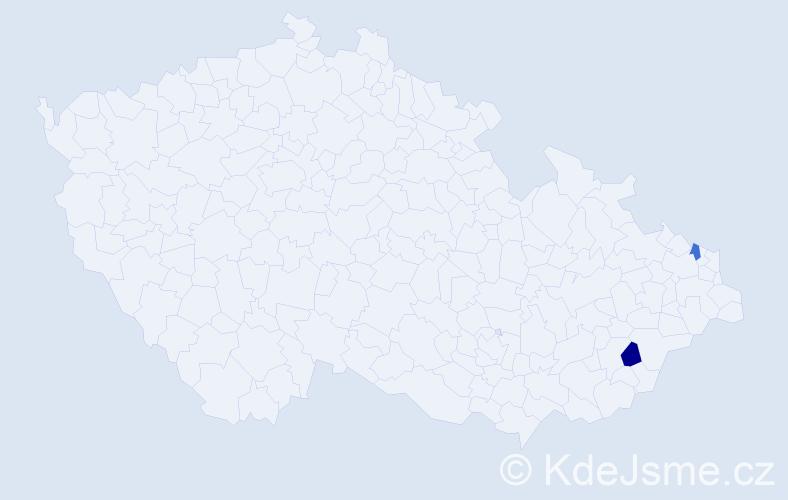 Příjmení: 'Lenczyk', počet výskytů 6 v celé ČR