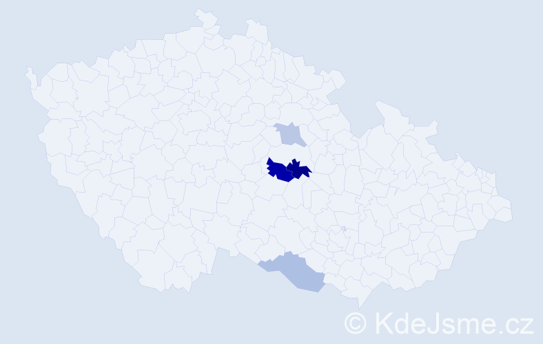 Příjmení: 'Gassler', počet výskytů 6 v celé ČR