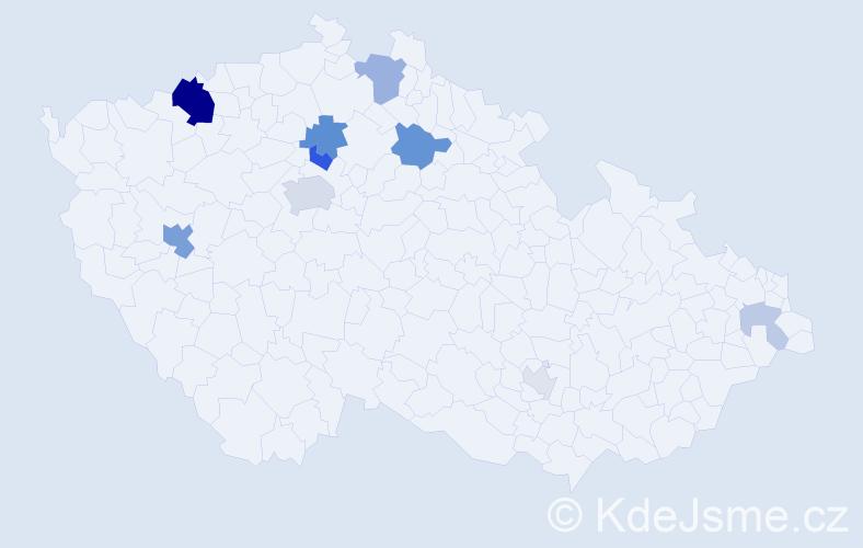 Příjmení: 'Dix', počet výskytů 26 v celé ČR